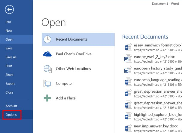 how to add a radicle button in word
