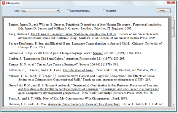 Bibliography list EDCUR 805